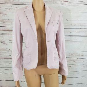 Calvin Klein Pink Open Front Blazer 4